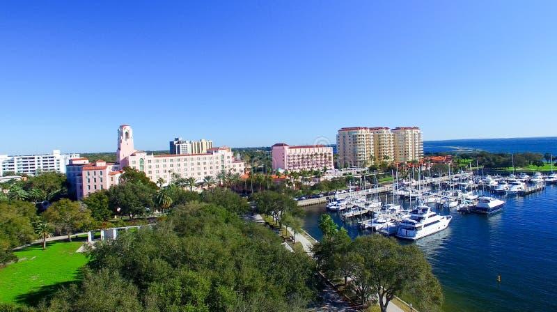圣彼德堡,佛罗里达鸟瞰图  库存图片