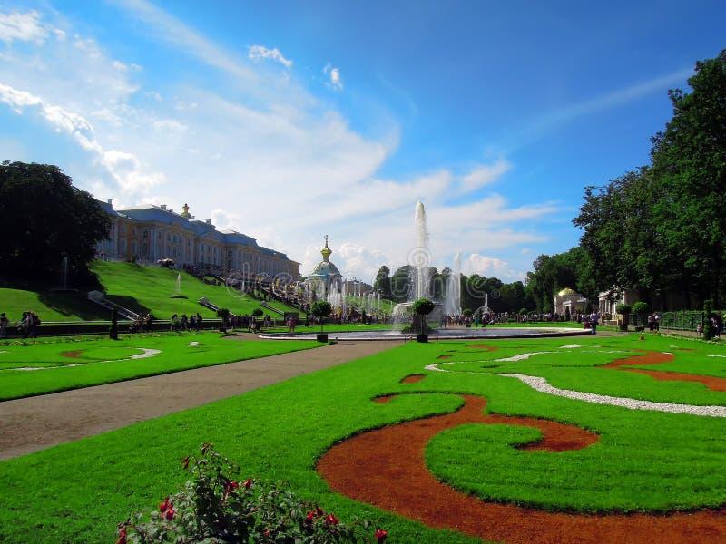 圣彼德堡,俄罗斯, Peterhof 库存图片