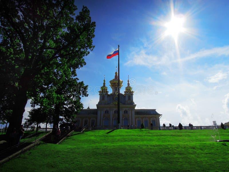圣彼德堡,俄罗斯, Peterhof 库存照片