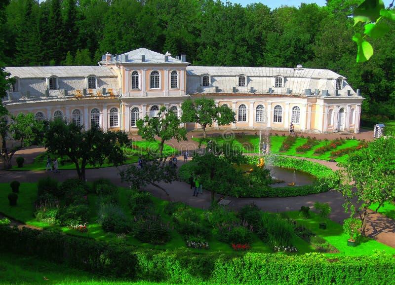 圣彼德堡,俄罗斯, Peterhof 免版税库存照片