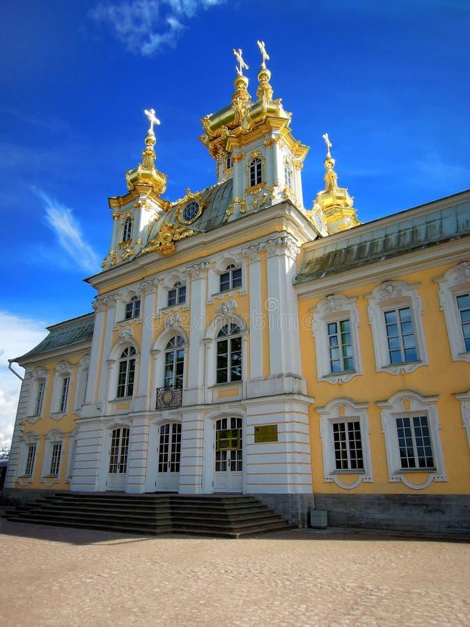 圣彼德堡,俄罗斯, Peterhof 免版税库存图片