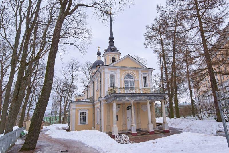 圣彼德堡,俄罗斯- 2019年3月16日:位于Tsarskoye的Christyan教会Selo普希金,圣彼德堡,俄罗斯 图库摄影