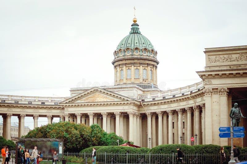 喀山大教堂在圣彼德堡,俄罗斯 库存照片