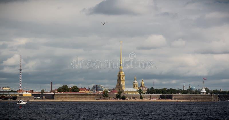 圣彼德堡, Petropavlovskaya fotress 免版税库存照片