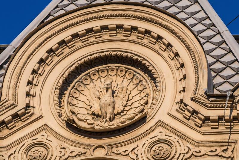 圣彼德堡 房子的装饰在街道Pestel上的 库存照片