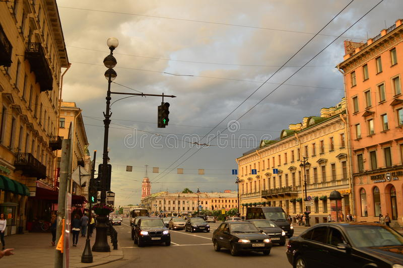 圣彼德堡 库存照片