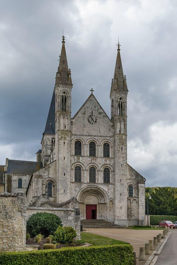 圣徒乔治, Boscherville,法国修道院  库存照片