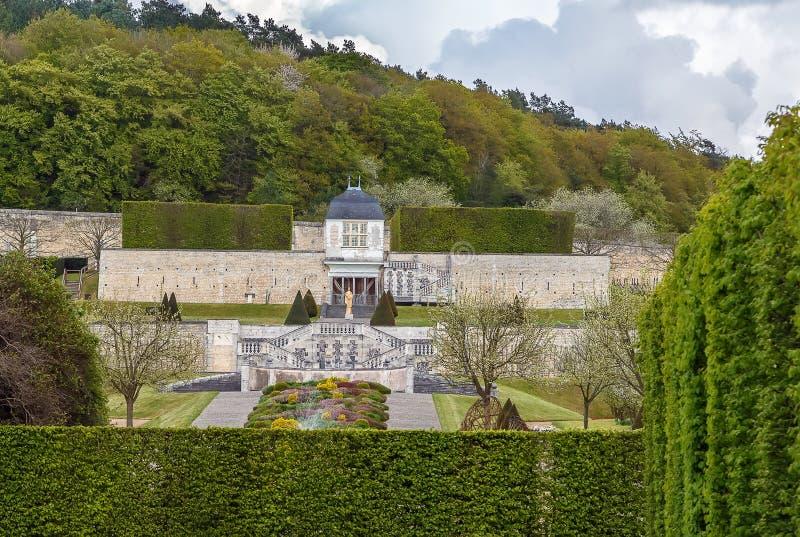 圣徒乔治, Boscherville,法国修道院  免版税库存照片