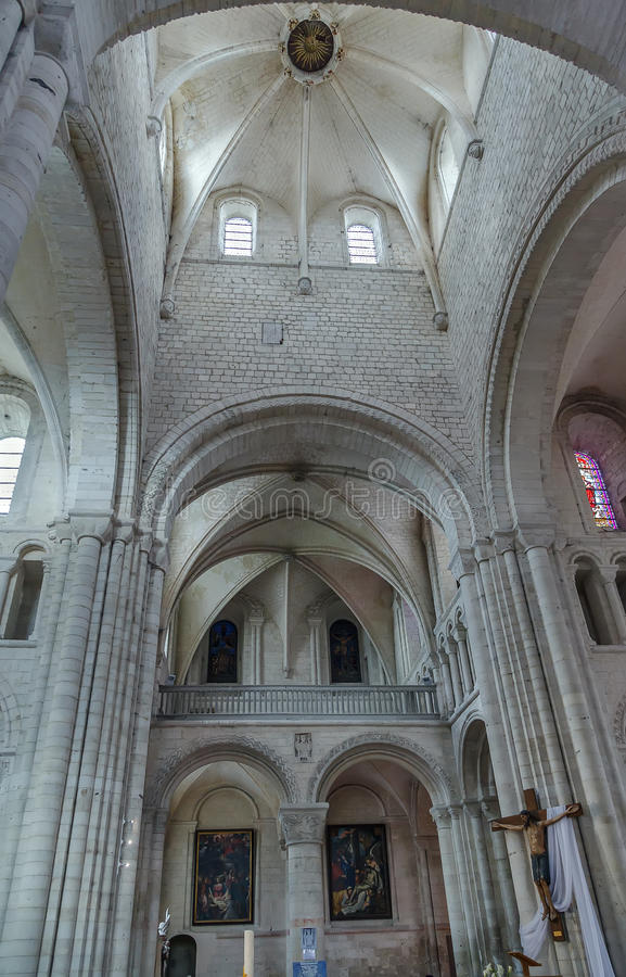 圣徒乔治, Boscherville,法国修道院  免版税库存图片