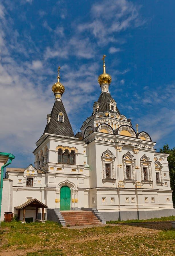 圣徒伊丽莎白教会(1895)在Dmitrov,俄罗斯 免版税库存照片