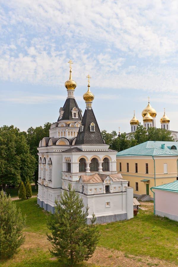 圣徒伊丽莎白教会(1895)在Dmitrov,俄罗斯 图库摄影
