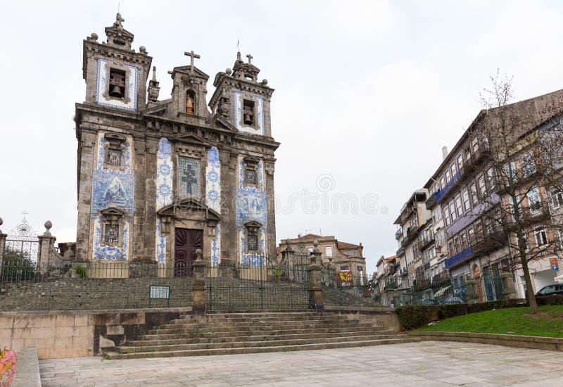 圣徒伊尔德方索教会,在波尔图,葡萄牙 库存照片