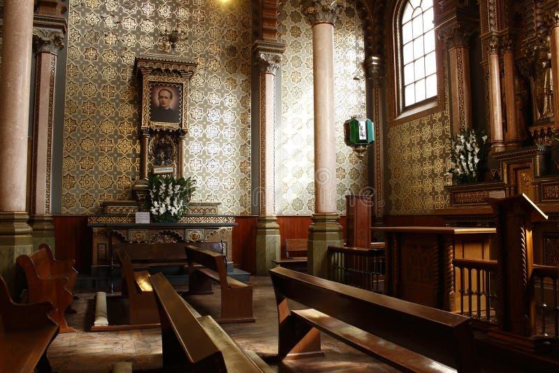 圣徒何塞阁下教堂在大教堂,利昂,瓜纳华托州里 o 库存图片