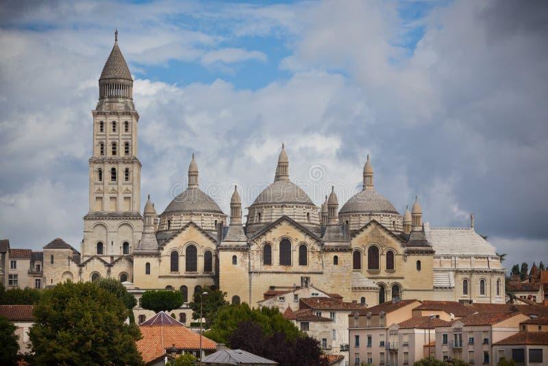 圣徒前面大教堂在Perigord,法国 免版税库存图片