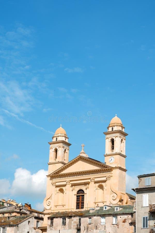 圣徒吉恩巴帝斯特教会在巴斯蒂亚,法国 免版税库存照片