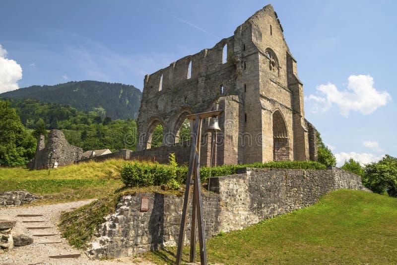 圣徒吉恩d'Aulps修道院,法国 免版税库存照片