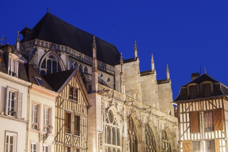 圣徒吉恩du马尔什教会在特鲁瓦 免版税库存图片