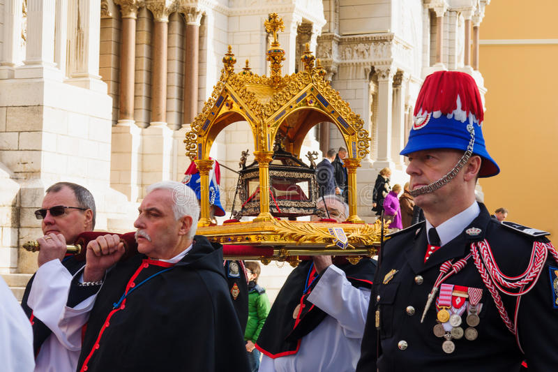 """圣徒在摩纳哥â€的Devota庆祝""""2015年 免版税库存照片"""