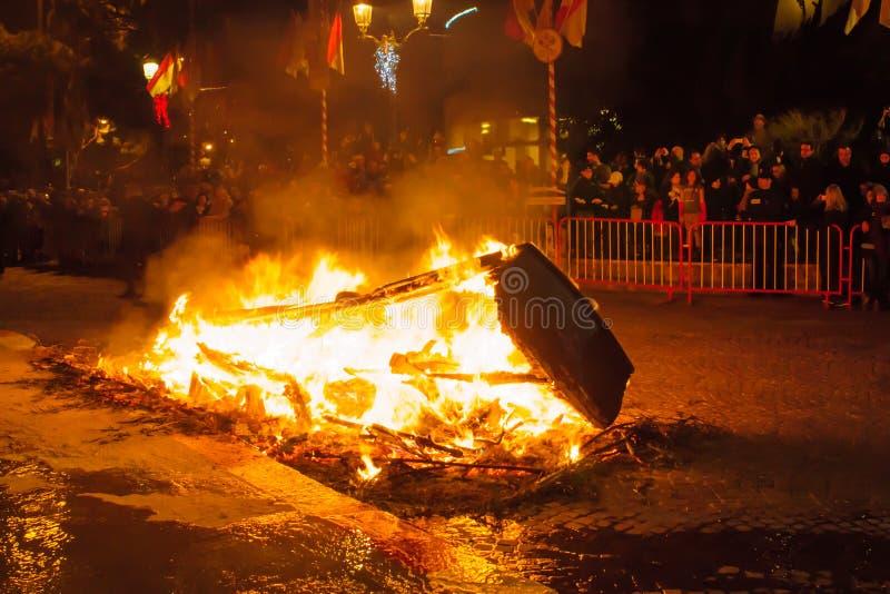 """圣徒在摩纳哥â€的Devota庆祝""""2015年 免版税库存图片"""