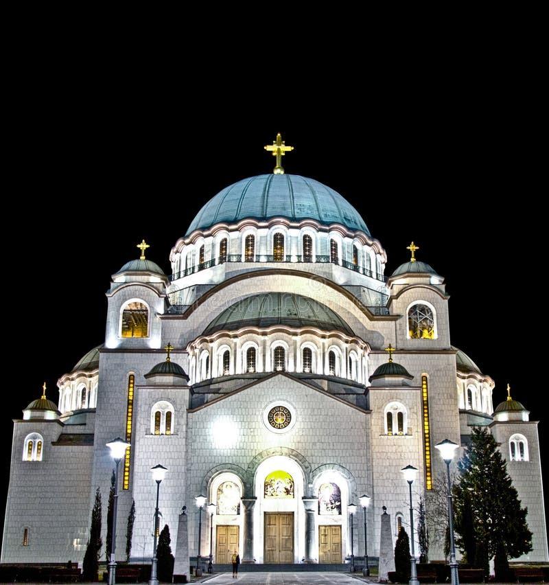圣徒在HDR的Sava寺庙 库存图片