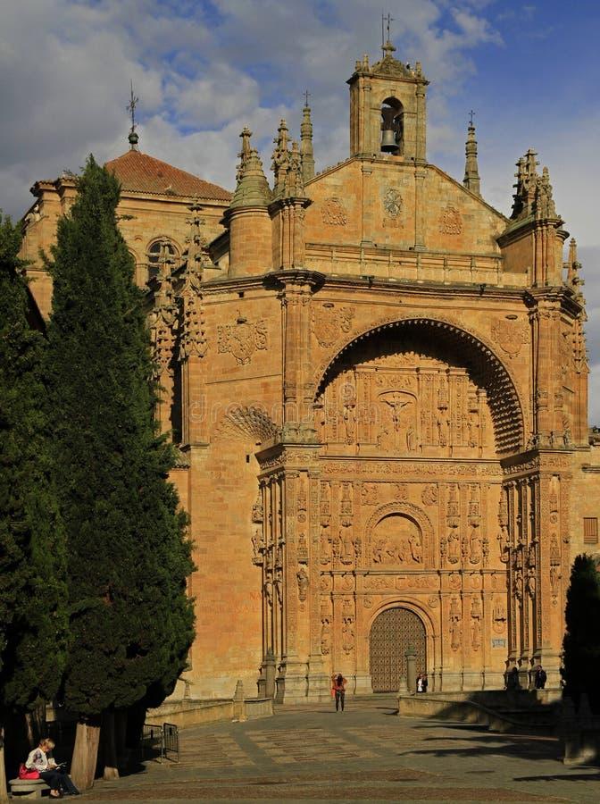 圣徒埃斯特万教会在城市萨拉曼卡 图库摄影