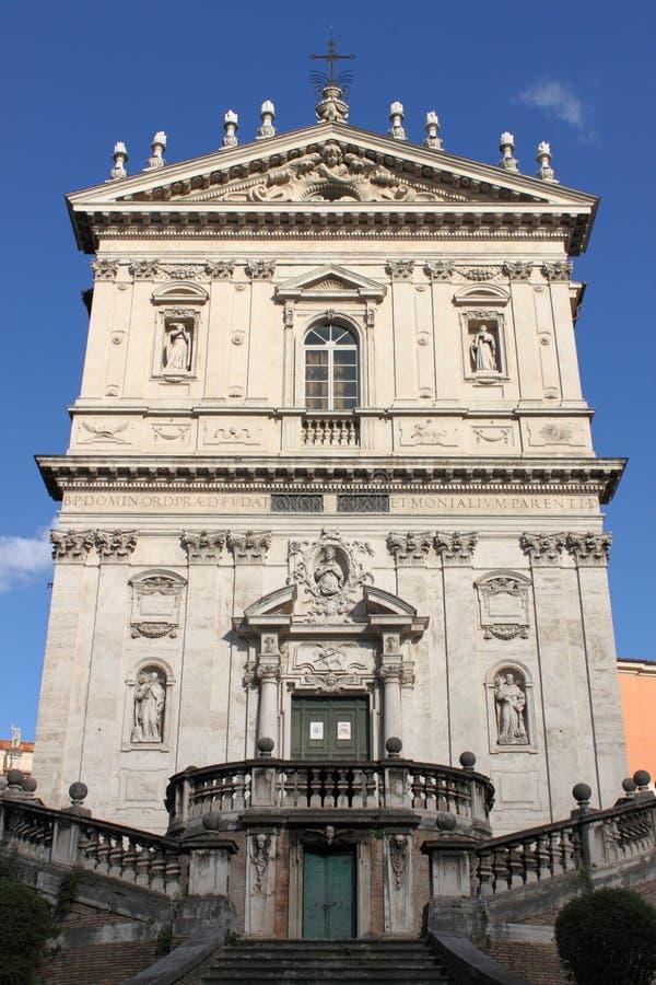 圣徒多梅尼科和Sisto教会  免版税库存图片
