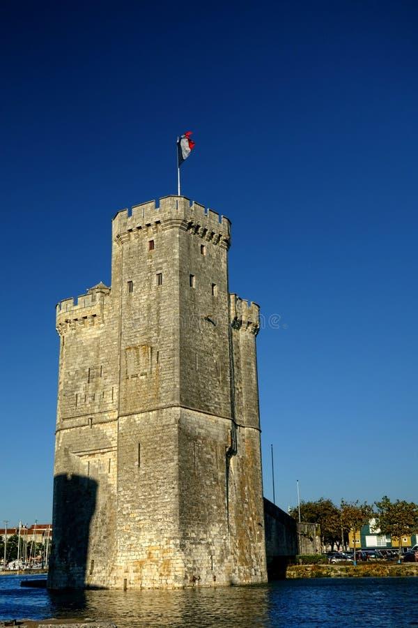 圣徒尼古拉斯中世纪塔在拉罗歇尔法国 免版税库存照片