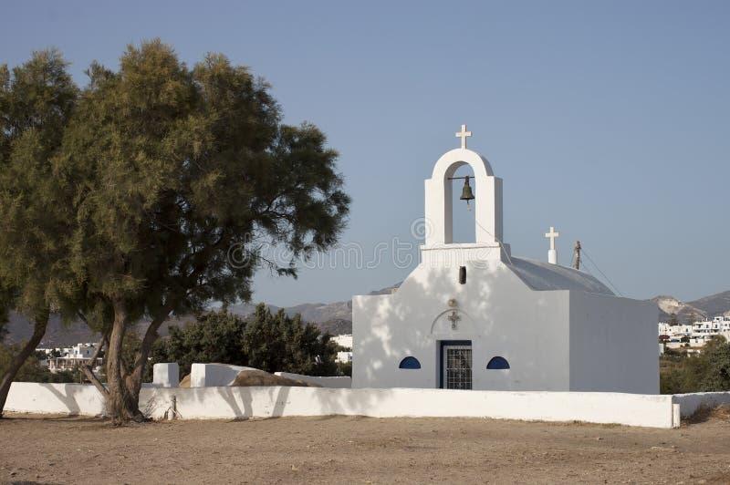 圣徒尼古拉斯教会在纳克索斯岛 库存图片