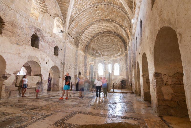 圣徒尼古拉斯教会在迈拉 库存照片