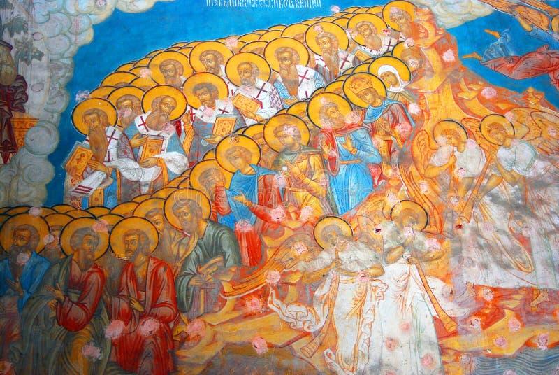 圣徒尼古拉斯教会在雅罗斯拉夫尔市,俄罗斯 内部 库存例证
