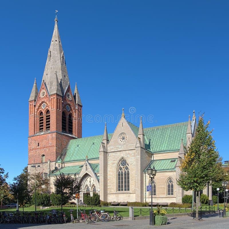 圣徒尼古拉斯教会在Orebro,瑞典 免版税库存照片