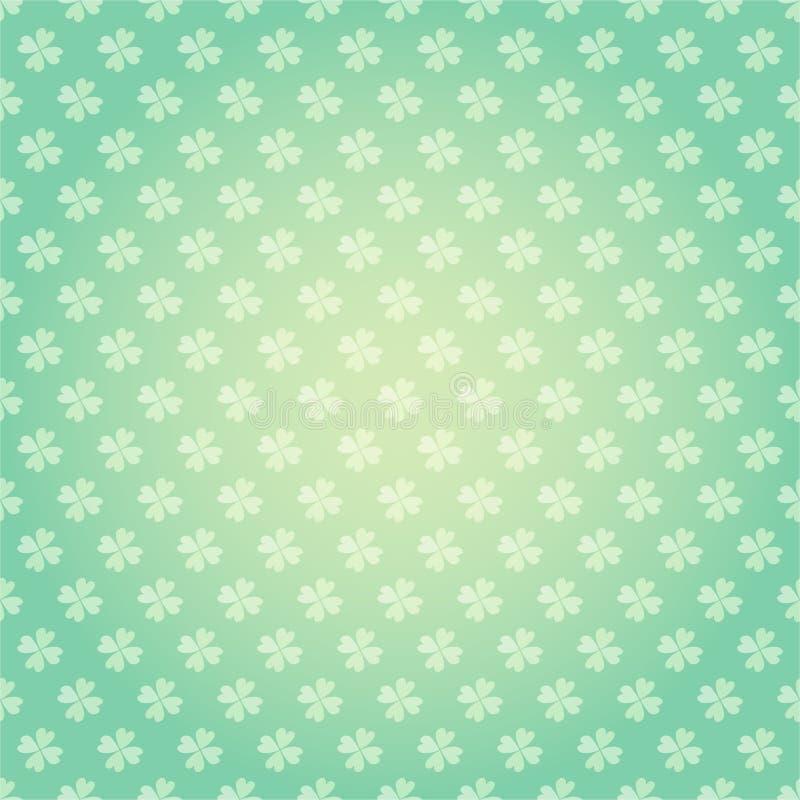 圣徒帕特里克斯天无缝的样式有三叶草三叶草传染媒介动画片五颜六色的春天背景 皇族释放例证