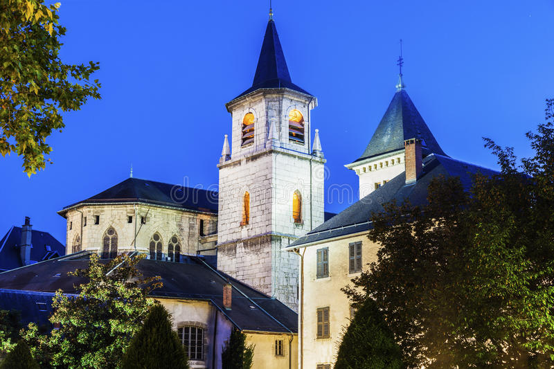 圣徒弗朗索瓦de销售大教堂在尚贝里 库存照片