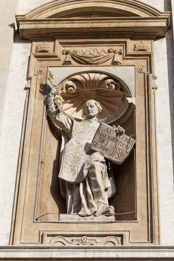 圣徒彼得和保罗教会,门面,克拉科夫,波兰细节  免版税库存图片