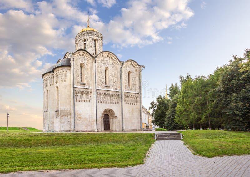 圣徒德米特里大教堂 俄国vladimir 免版税库存图片