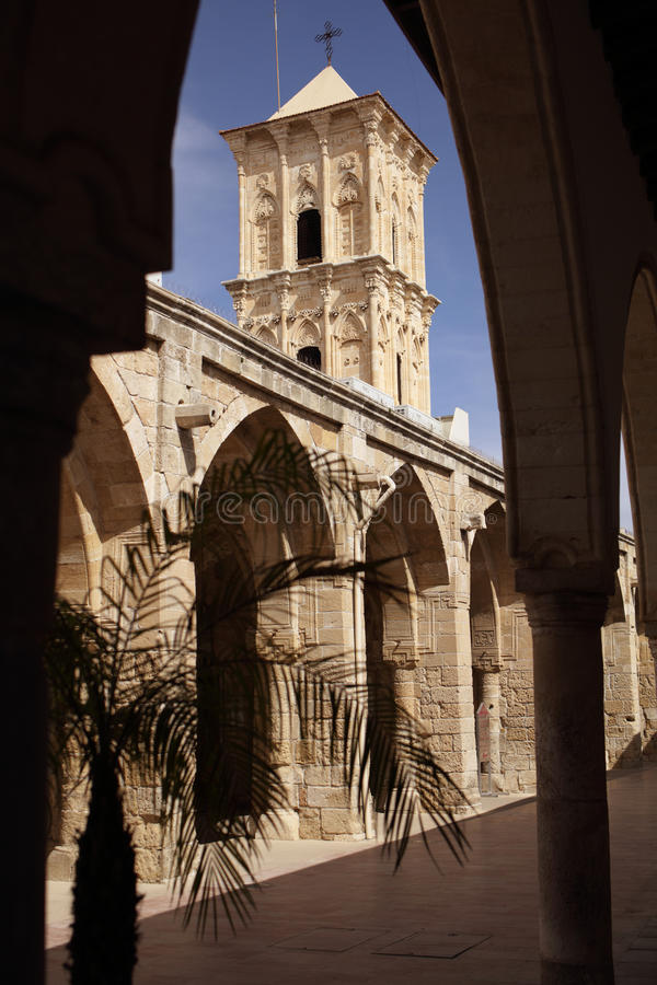 圣徒拉撒路教会在拉纳卡,塞浦路斯 免版税库存图片