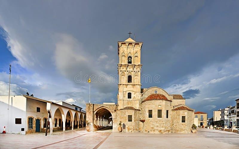 圣徒拉撒路,后第9个世纪教会教会在拉纳卡,塞浦路斯 免版税库存照片