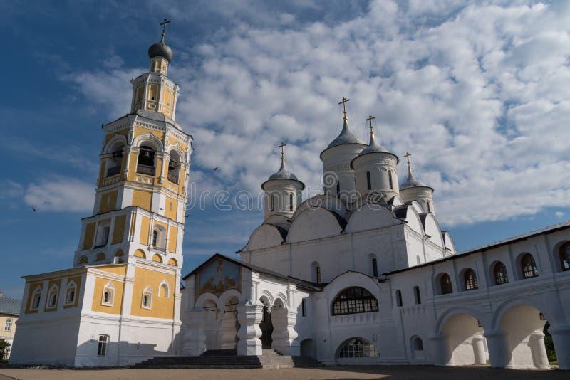 圣徒救主大教堂在Spaso-Prilutsky修道院,沃洛格达州里 免版税图库摄影