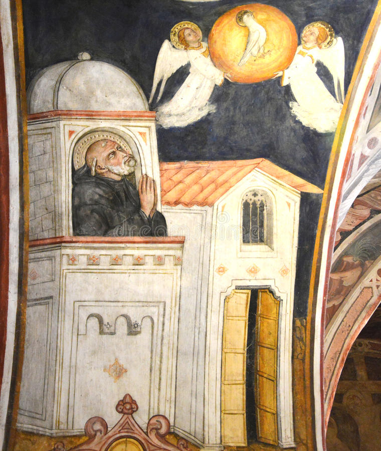 圣徒本尼迪克特壁画  免版税图库摄影