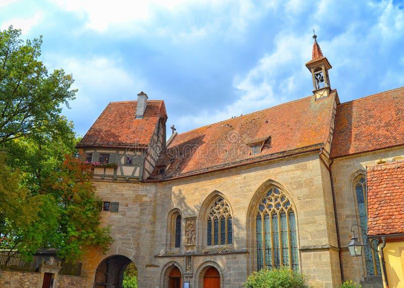 圣徒沃尔夫冈的教会 库存照片