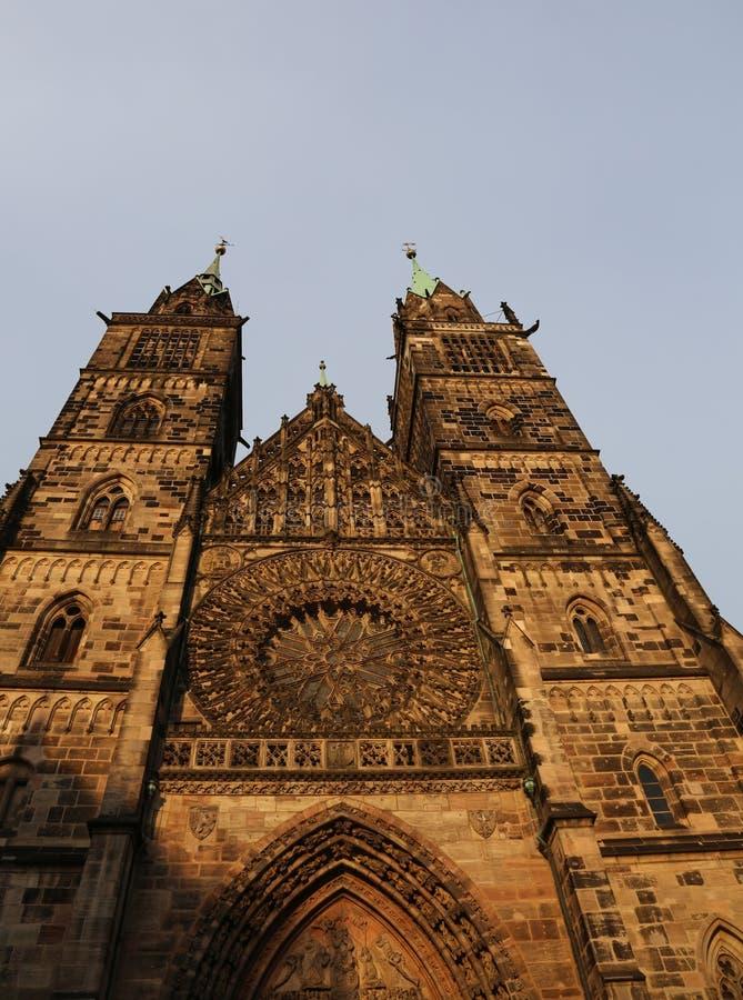 圣徒洛伦茨在德语的也叫的LorenzKirche是我 免版税库存图片