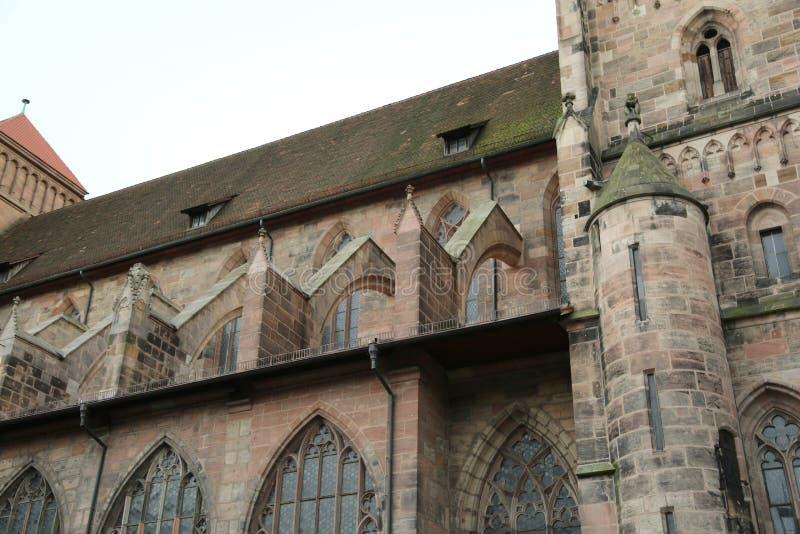 圣徒洛伦茨在德语的也叫的LorenzKirche是我 库存图片