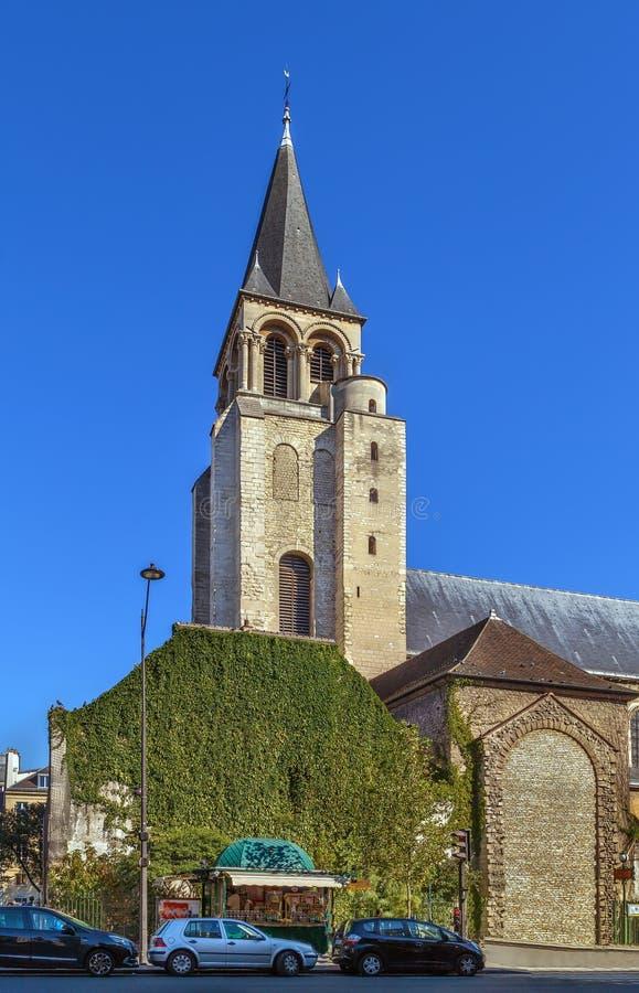 圣徒热尔曼desPres,巴黎修道院  免版税图库摄影