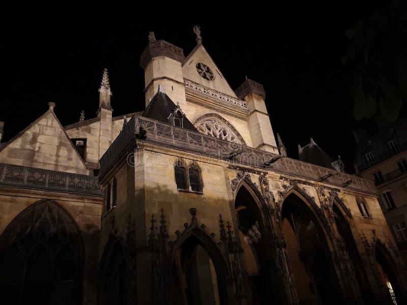 圣徒热尔曼l ` Auxerrois教会在巴黎,法国 免版税库存图片