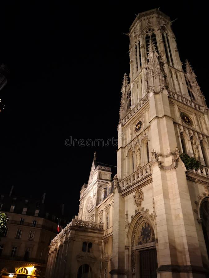 圣徒热尔曼l ` Auxerrois教会在巴黎,法国 库存图片