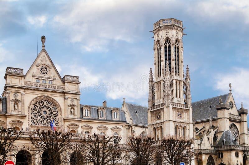圣徒热尔曼l Auxerrois教会在巴黎 免版税库存图片