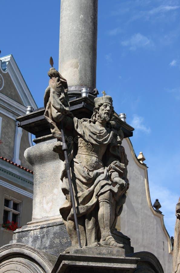 圣徒瓦茨拉夫雕象 库存图片