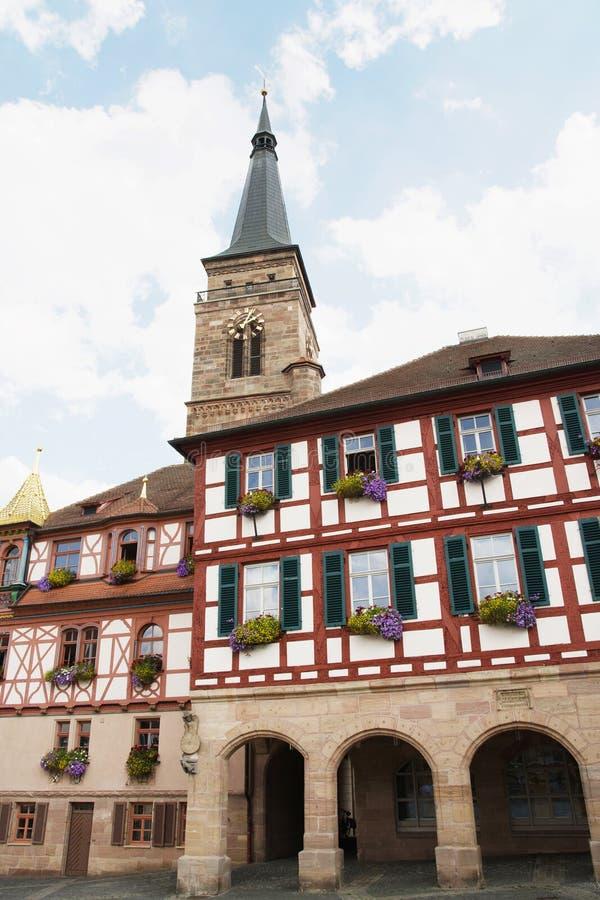 圣徒约翰尼斯和圣马丁,施瓦巴赫教会,德语 库存照片