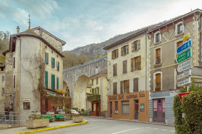 圣徒纳泽尔enRoyans一个小法国镇在奥韦涅RhÃ' 免版税库存图片