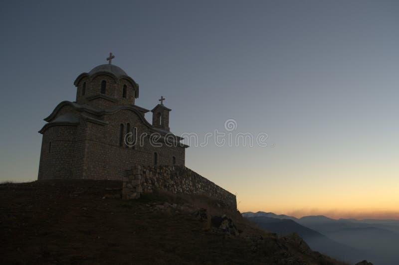 圣徒肠骨教会在摩拉瓦,阿尔巴尼亚 库存图片